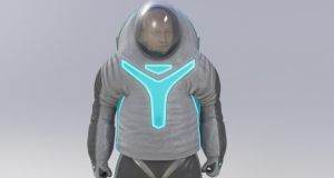 The 'Technology' design, with electroluminescent wire and patches across the torso