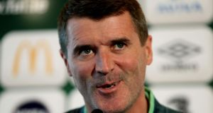 Former Manchester United skipper Roy Keane believes David Moyes will be given time to turn around the club's fortunes, but for this to happen  the club's senior players have to show leadership. Photograph: Brian Lawless/PA Wire.