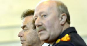 Minister for Justice and Equality Alan Shatter and former garda commissioner Martin Callinan: what exactly did they know about secretive recording? Photograph: Brenda Fitzsimons