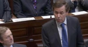 Minister for Justice Alan Shatter apologises in the Dáil  to Garda whistleblowers over his handling of the affair.  Photograph: Frank Miller