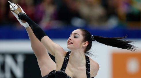 Canada's Kaetlyn Osmond in action. Photograph: Yuya Shino/Reuters