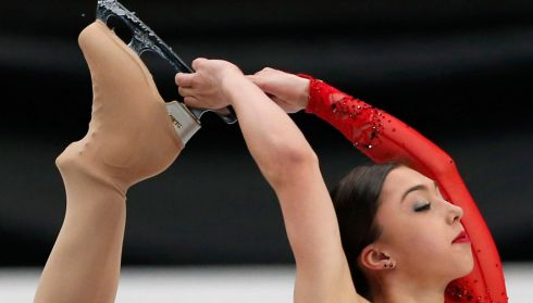 Canada's Gabrielle Daleman sports a certain swanlike haughtiness. Photograph: Yuya Shino/Reuters