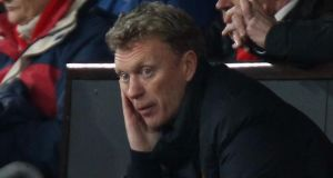 Manchester United manager David Moyes under increasing pressure. Photograph: Peter Byrne/PA Wire