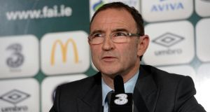Republic of Ireland manager Martin O'Neill. Photograph: Alan Betson / THE IRISH TIMES