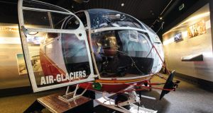 The original helicopter from the film, now a simulator at the Bond museum