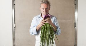 Alain Passard photographed in L'Arpège by  Pauline Le Goff