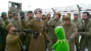 Velcome to my gulag: Nadya (Tina Fey) gets her clutches on wee Kermit