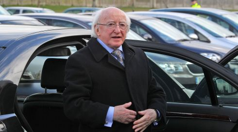 President Michael D Higgins arriving at the funeral of late TD Nicky McFadden. Photograph: Colin Keegan/Collins