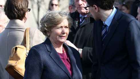 Minister for Children Frances Fitzgerald at the McFadden funeral. Photograph: Colin Keegan/Collins