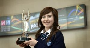 The overall winner of the NNI Press Pass competition was Elayna Keller from Our Lady's College in Greenhills, Drogheda. Photograph: Brenda Fitzsimons