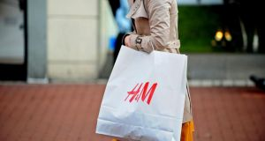 February's retail sales grew year on year but fell compared with the previous month. Photograph: Aidan Crawley/Bloomberg