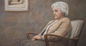 Deep in Thought, a portrait of her mother by German-born, Dublin-based artist Ursula Klinger at The Dublin Painting & Sketching Club, €3,800.