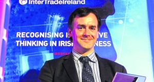 Dr Ivan Coulter of Sigmoid Pharma winning the Innovation of the Year award at the inaugural The Irish Times InterTradeIreland Innovation Awards in 2010 – the company has a lead compound for ulcerative colitis heading into phase three clinical trials
