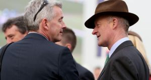 Willie Mullins (right): is in Dubai saddling Simenon for tonight's Dubai Gold Cup.