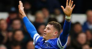 Ross Barkley could not score against Barnsley on loan under Neil Warnock, but drew comparisons with Paul Gascoigne with his wonder goal for Everton this week.   Photograph: Paul Thomas/Getty Images