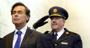 Minister for Justice Alan Shatter and former Garda commissioner Martin Callinan. Photograph: Brenda Fitzsimons/The Irish Times