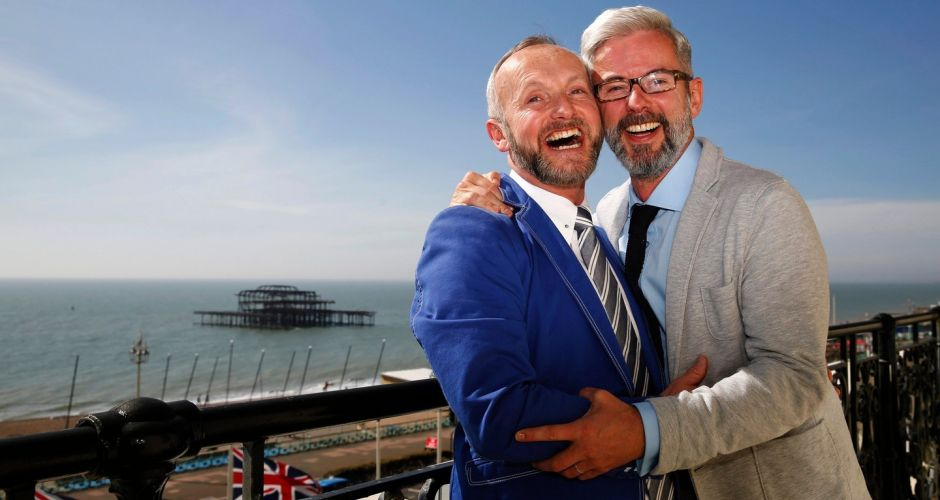 UK's first gay weddings