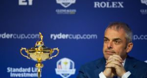 Paul McGinley, European Ryder Cup captain, at a Ryder Cup press conference on March 6th in Dublin. Photograph:  Patrick Bolger/Getty Images