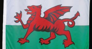 The Welsh flag. photograph: getty images
