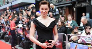Novelist Veronica Roth at the European premiere of Divergent in London on March 30th (photo: Dave J Hogan/Getty Images)