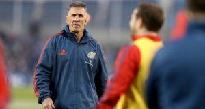 "Munster coach Rob Penney: ""The momentum can shift on a couple of calls and in those tight game they do."" Photograph: Inpho"