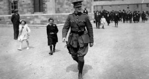 Questioned: Michael Collins in 1922. Photograph: Walshe/Getty
