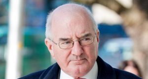 Former Anglo director Willie McAteer at Dublin Circuit Criminal Court yesterday. Collins Courts