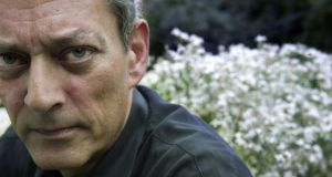 Writer Paul Auster  in his home garden  in New York. Photograph: Jean-Christian Bourcart/Getty Images