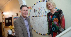 Liam Roe and Mary Cotter at the Talbot Centre, Upper Buckingham Street, Dublin. Photograph: Eric Luke
