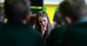 Mary-Lou McCarthy as Mollser at St Laurence O'Toole Junior Boys' School, Dublin. Photograph: Dara Mac Dónaill