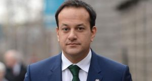 "Minister for Transport Leo Varadkar: said that buses ""offer better value to the taxpayer"" than trains.  Photograph: Dara Mac Dónaill / The Irish Times"