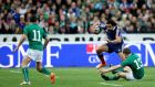 Yoann Huget bowls over Brian O'Driscoll during France's Six Nations decider against Ireland. The Toulouse man will feature at fullback against Munster.