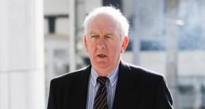 Banking expert Tom Reid  outside  court yesterday.   Photograph: Courtpix