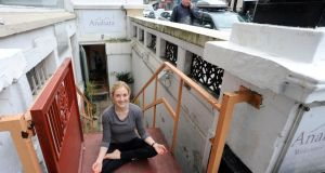 Instructor Siobhan  at Anahata yoga and massage studio on Dawson Street. Photograph: Dave Meehan