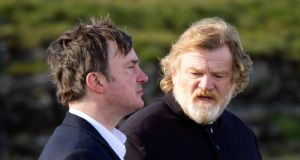Unholy alliance: Moran, with Brendan Gleeson, in 'Calvary'