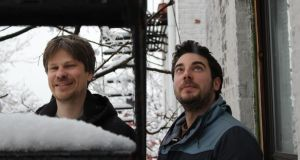 Blue notes: Justin Carroll and Matt Jacobson in Brooklyn