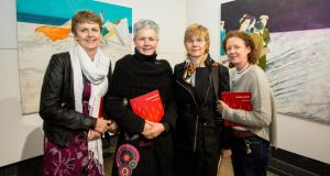 Pride of place: artists Nuala O'Sullivan, Trish O'Donnell, Jackie O'Riordan and Grace O'Sullivan at the 'Personal Choice' exhibition. Photograph: Alan Place