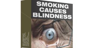 An examples of cigarette packaging used in Australia. Copyright: Commonwealth of Australia