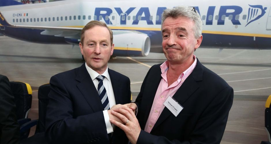 In full flight at Ryanair HQ