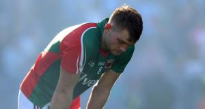 Mayo's Aidan O'Shea: looks like he might have experienced the GAA's customer service. Photograph: Donall Farmer/Inpho