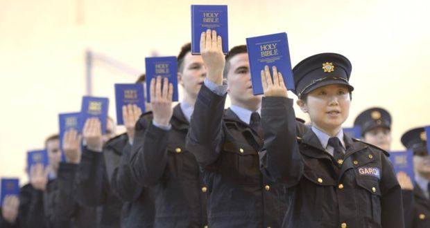Garda Reserve Xiao Du from Finglas  at the Reserve Graduation ceremony at the Garda College, Templemore. Photograph: Brenda Fitzsimons