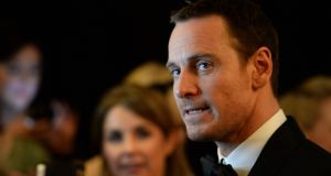 Michael Fassbender, Actor in a Supporting Role winner for 12 Years A Slave, at the 11th Annual Irish Film & Television Awards (IFTA). Photograph: Dara Mac Dónaill /The Irish Times
