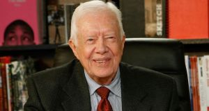 Former US president Jimmy Carter: 'When I read every word in the Bible about Jesus Christ, he never once insinuated that women were inferior to me.' Photograph: Jemal Countess/Getty Images