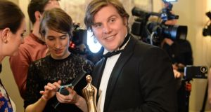 Actor Peter Coonan won an award for playing 'Fran' in the popular crime series. Photograph: Dara Mac Dónaill/The Irish Times