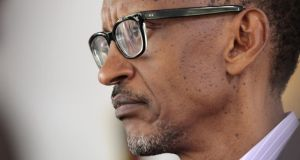 Rwandan president Paul Kagame: pointed to 'the direct role of Belgium and France in the political preparation of the genocide, and the participation of the latter in its actual execution'. Photograph: Evan Schneider/UN via Getty Images)