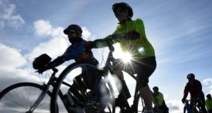 The numbers cycling to work increased 14% last year to 9,061 from  7,943 in 2012. Photograph: Dara Mac Dónaill