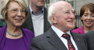 President Michael D Higgins and  his wife Sabina ,  who leave for a state visit to Britain today.