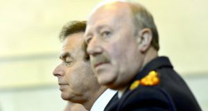File picture of Minister for Justice Alan Shatter and former Garda commissioner Martin Callinan. The Commission of Inquiry is likely to examine the events surrounding Mr Callinan's resignation. Photograph: Brenda Fitzsimons