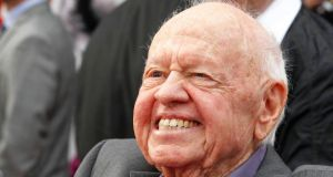 Academy Award winning actor Mickey Rooney  in Hollywood, California, 2012. Photograph: Fred Prouser/Files /Reuters