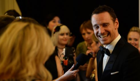 Michael Fassbender of Academy Award winner 12 Years A Slave, who took the Actor in a Supporting Role award at the Iftas. Photograph: Dara Mac Dónaill/The Irish Times